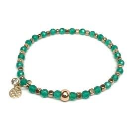 Green Onyx 'Friendship' Stretch Bracelet, 14k over Sterling Silver