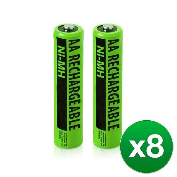 Replacement Panasonic KX-TGA652 NiMH Cordless Phone Battery - 630mAh / 1.2v (8 Pack)
