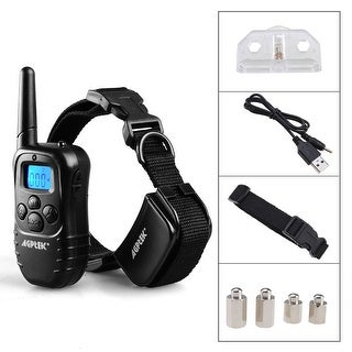 Oxgord Rechargeable Waterproof Remote Control Dog Training Collar