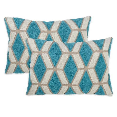Embroidered Diamond Throw Pillow Cover (Set of 2)