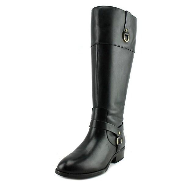 Lauren Ralph Lauren Mesa Wide Calf Women Blk/Blk Boots