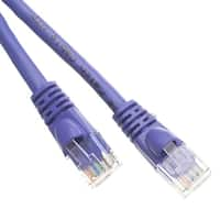 Cat5e Purple Ethernet Patch Cable, Snagless/Molded Boot, 50 foot
