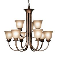 Woodbridge Lighting 12025 Dresden 9 Light Marbled Bronze Chandelier - Marbled Bronze