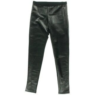 BP. Womens Faux Leather Panel Leggings - M