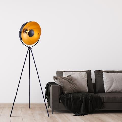 "Archiology 63"" Retro Industry Tripod Floor Lamp - Black/Gold"