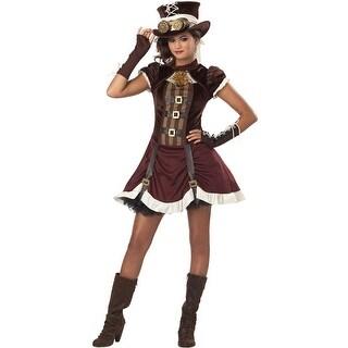 California Costumes Steampunk Girl Tween Costume - Red/Brown