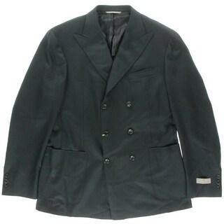 Canali Mens Wool Blend Solid Suit Jacket - L