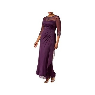 Xscape Womens Plus Evening Dress Embellished Full-Length - 14W