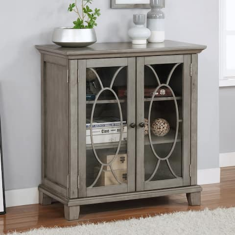 Furniture of America Thurmin Transitional Gray Hallway Cabinet