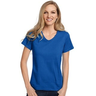 Hanes Relaxed Fit Women's ComfortSoft® V-neck T-Shirt - Size - 3X - Color - Deep Royal