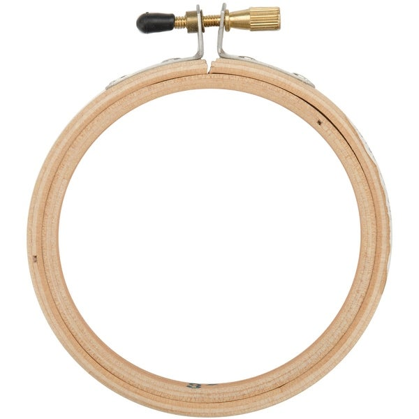 "Wood Embroidery Hoop W/Round Edges 3""-Natural"