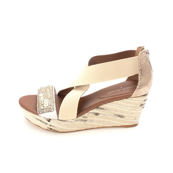 f39584fc7100 Donald J Pliner Womens Farra Open Toe Casual Platform   Wedges - 7.5 ...