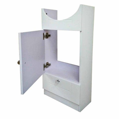 Renovators Supply White Painted Wall Mount MDF Vanity Sink Cabinet Only