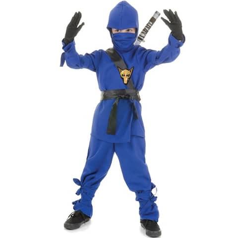 Underwraps Secret Ninja Child Costume (Blue) - Solid