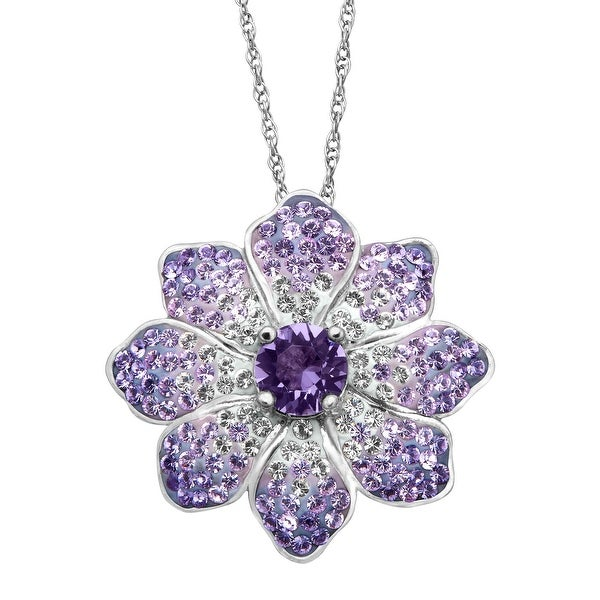 824a80ecac Shop Crystaluxe Flower Pendant with Purple & White Swarovski ...