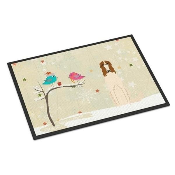 Carolines Treasures BB2495MAT Christmas Presents Between Friends Borzoi Indoor or Outdoor Mat 18 x 0.25 x 27 in.