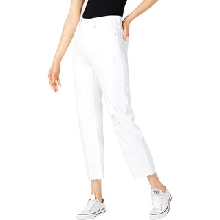 NYDJ Womens Ankle Jeans Destroyed High Rise