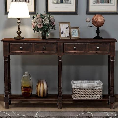 Copper Grove Barregarrow 2-drawer Console Table and Bottom Shelf