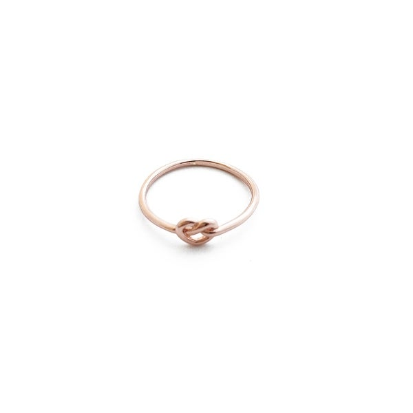 Honeycat Love Knot Ring (Delicate Jewelry)