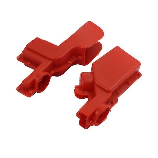 1 Pair Arrester Insulated Jacket Silicone Rubber 15KV Voltage Resistance Red