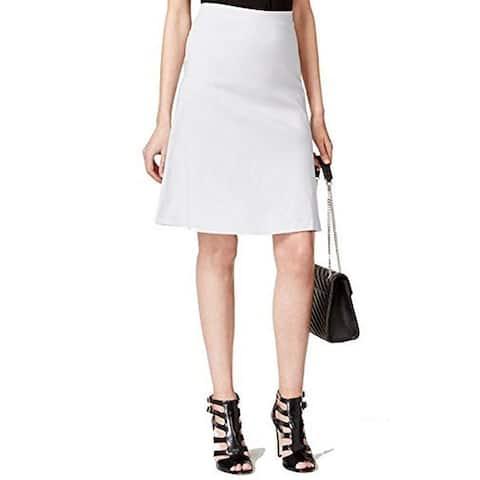 Alfani Petite's Zip-Pocket A-Line Skirt, Silver (12P) - 12P