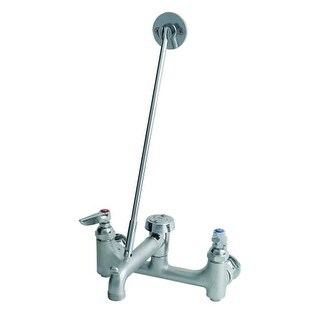 T and S Brass B-0665-BSTR Wall Mounted Service Sink Faucet with Built-In Stops,