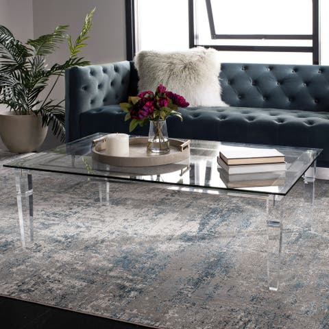 "Safavieh Couture Amelie Acrylic Coffee Table - Clear - 48"" x 30"" x 16"" - 48"" x 30"" x 16"""