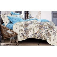 100% cotton reactive printing duvet cover set -- Summer (King/Cal King)