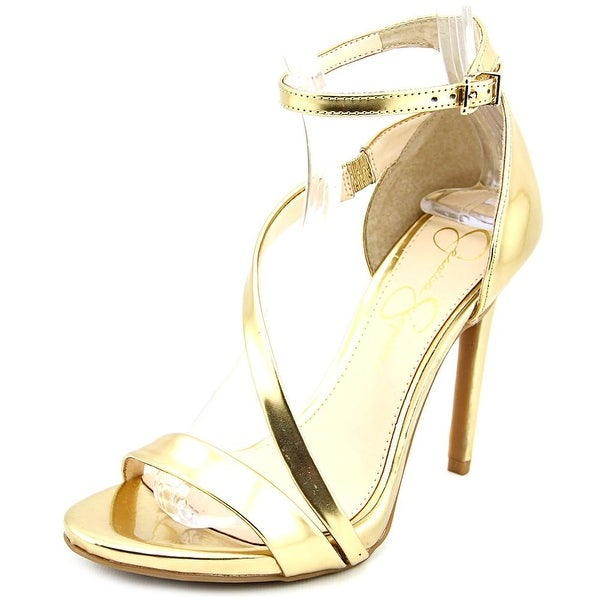 Jessica Simpson Rayli Women Open Toe Synthetic Gold Sandals