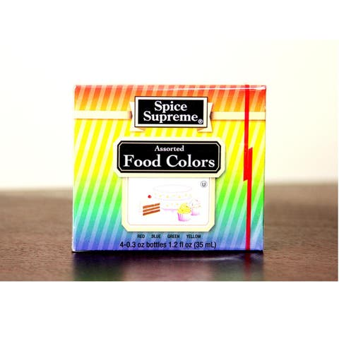 Pack of 24 Spice Supreme Assorted Food Coloring Kits 1.2 fl oz. - Multi - N/A