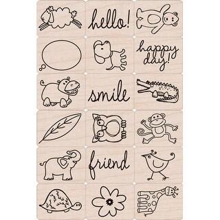 "Hero Arts Ink 'n Stamp Tub 3""X4""-Happy Animals"