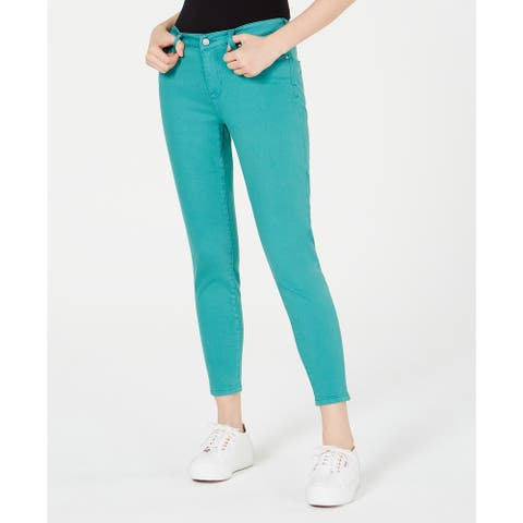 Celebrity Pink Juniors' Colored Skinny Jeans Green Size 9