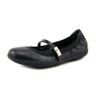 Marc Fisher Leigh Women Round Toe Leather Black Flats