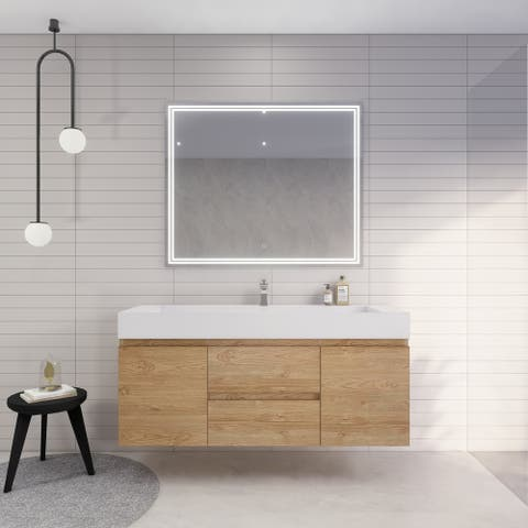 Better Monterey 60'' Single Sink Wall-Mounted Vanity with Reinforced Acrylic Sink