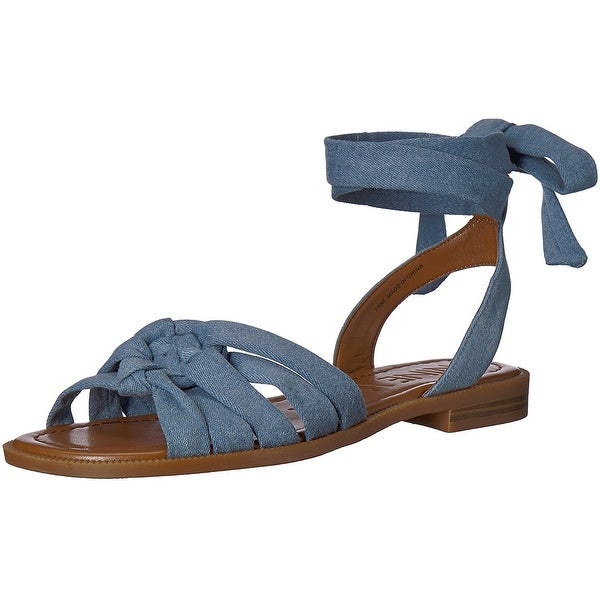 b0876ed3eb337 Shop Nine West Women's Xameera Denim Flat Sandal - Free Shipping On ...