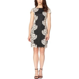 Tahari ASL Womens Party Dress Open Back Lace - 4