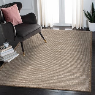 Link to LR Home Natural Fiber Interwoven Off-White Jute Area Rug Similar Items in Rugs