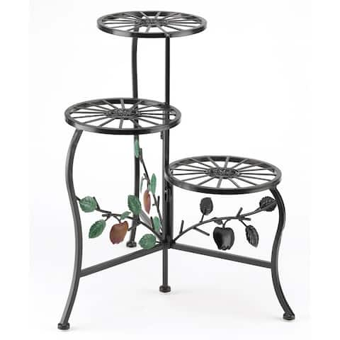 Country Apple 3-Tier Plant Stand - Multi-Color