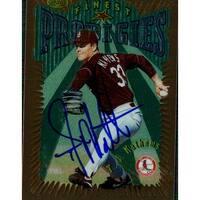 Signed Mathews TJ St Louis Cardinals 1996 Topps Baseball card autographed