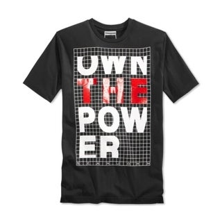 Sean John NEW Black Mens Small S Short Sleeve Graphic Print Tee Shirt