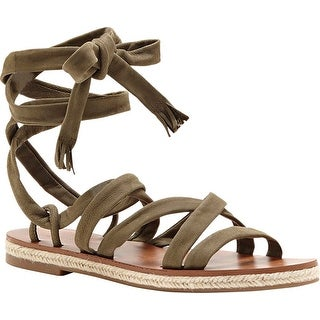 Lucky Brand Womens Dalty Leather Open Toe Casual Slide Sandals
