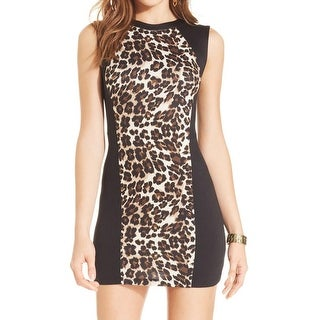 Ruby Rox Womens Juniors Casual Dress Animal Print Mini