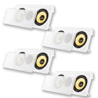 "Acoustic Audio HD6c In-Wall Dual 6.5"" Speakers Home Theater 4 Speaker Set"