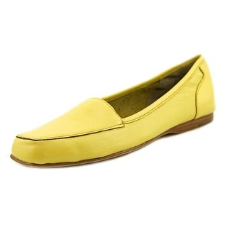 Array Freedom Women W Round Toe Leather Yellow Loafer