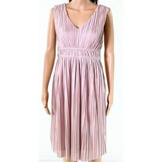 June & Hudson Women's Small Pleated A-Line Dress