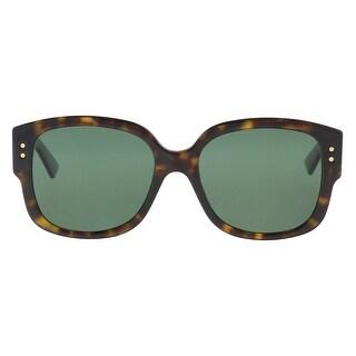 Christian Dior LADYDIORSTUDS 0086 Dark Havana Square Sunglasses - 54-18-140