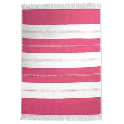 "Handmade Sweet Oaxaca Zapotec Cotton Tablecloth (Mexico) - 85"" L x 63"" W"