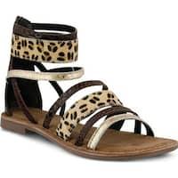 Azura Women's Tunisia Strappy Sandal Brown Leather