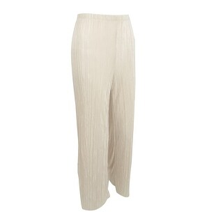 MSK Women's Crinkled Wide-Leg Pants - Yvory