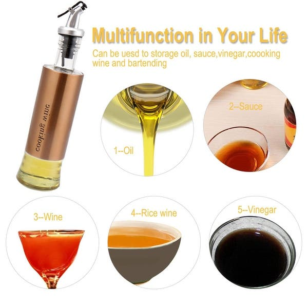 Kitchen Oil Bottle Dispenser Set